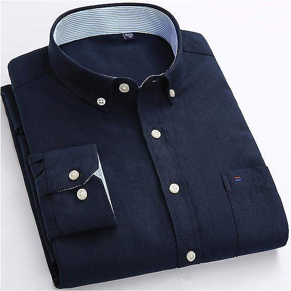 Camisa de Manga Larga para Hombre Oxford 5XL 6XL - - 56 ES: Amazon.es: Ropa y accesorios