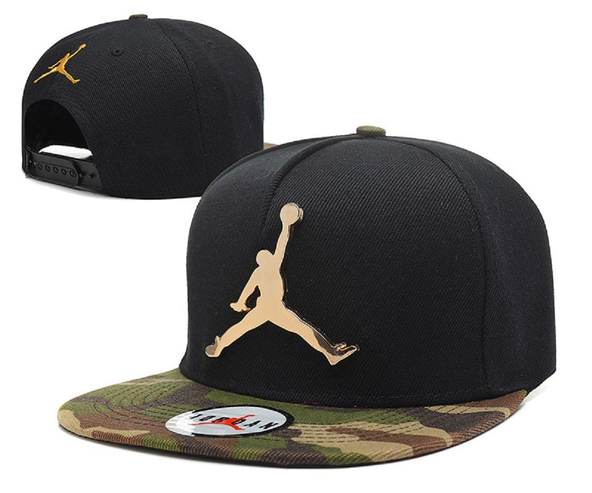 6695218b1bc Air Jordan Jumpman True Snapback Cap (Black Metal Logo with camouflage Brim)   Amazon.co.uk  Sports   Outdoors
