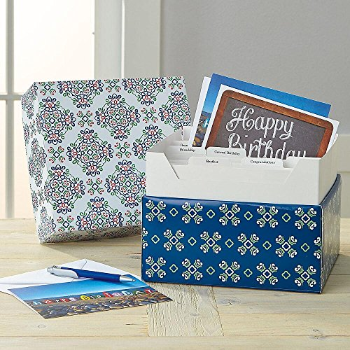 Fresh Patterns Greeting Card Organizer Box