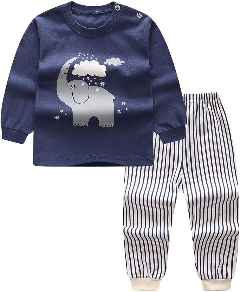 Allence Neugeborenes Baby Junge M/ädchen Cartoon T-Shirt Tops Pants Schlafanzug Nachtw/äsche Outfits Set