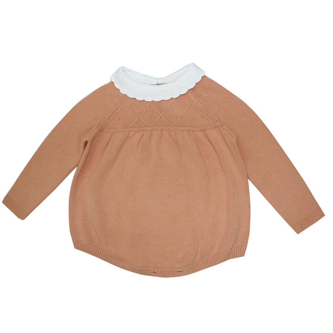 Wennikids Infant Newborn Baby Romper Long Sleeve Sweater Knitted Bubble Romper