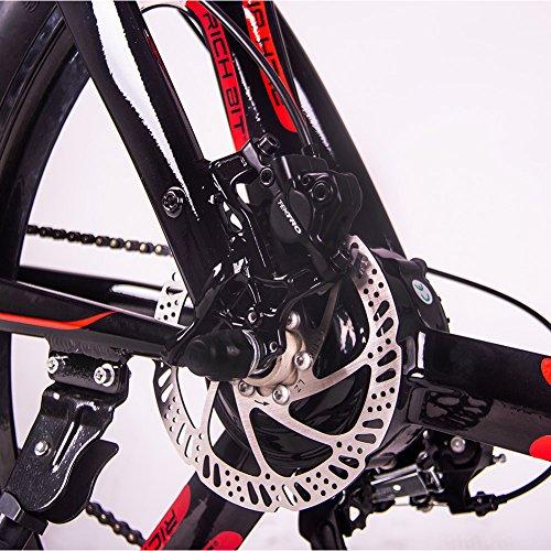 RICH BIT Modelo TOP-880 36V * 9.6AH Mans Bicicleta Plegable Eléctrica 26 Pulgadas Rueda con Pantalla LCD Inteligente (Red): Amazon.es: Deportes y aire libre