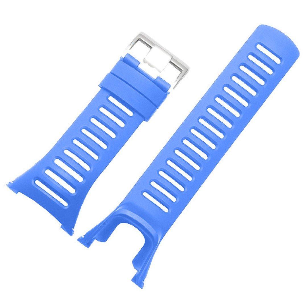 Culater® für SUUNTO Ambit 3 Peak/Ambit 2/Anwendungsbereich 1, Luxus Bunte Cool Kautschuk Band Uhrenarmband Ersatz Culater Luxus Bunte Cool Kautschuk Band Uhrenarmband Ersatz (Blau) Culater03