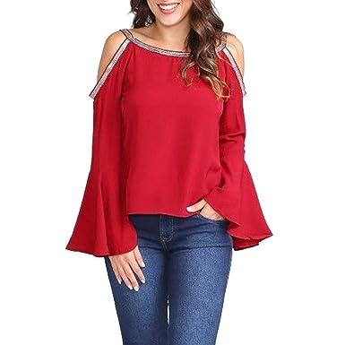 schön und charmant wähle das Neueste Online bestellen Longra Damen Elegante Blusen Rote Bluse für Damen ...