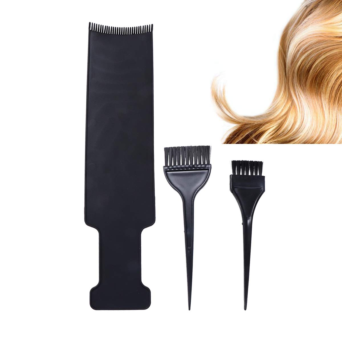 Long Highlighting Board and Hairbrush Kit Hair Coloring Comb Hairdressing Pick Color Balayage Board for Dyeing