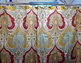 Royal Bath Traditional India Extra Long Fabric Shower Curtain (72'' x 84'')