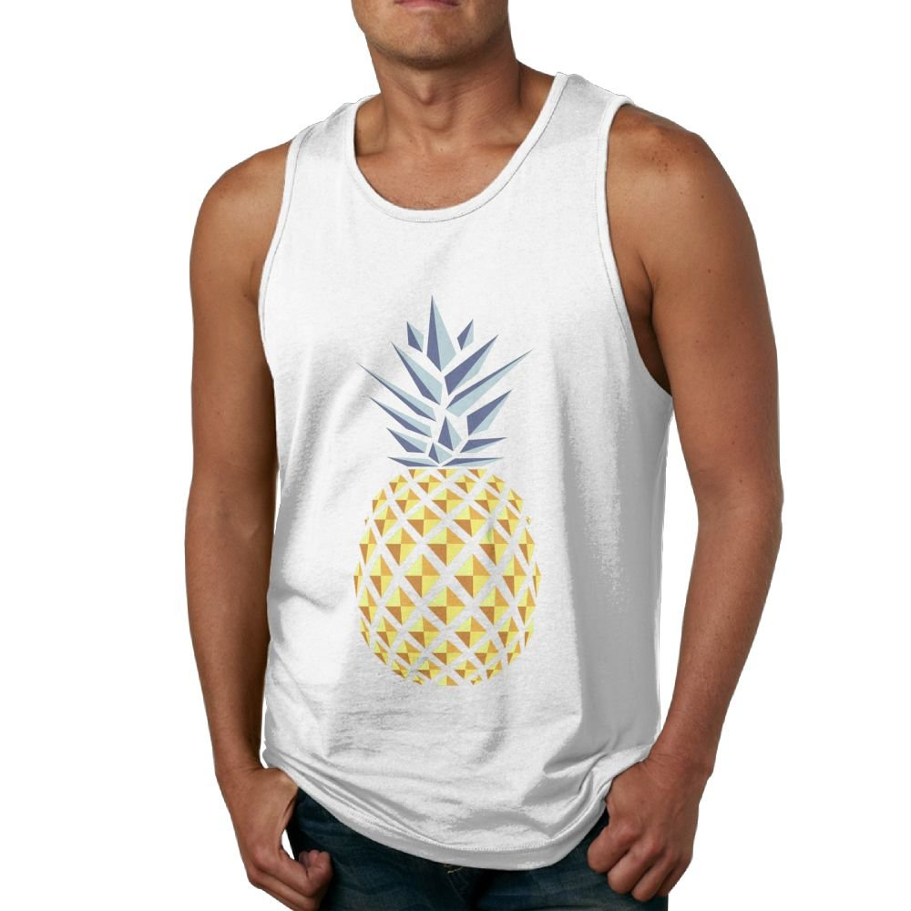 Color Pineapple Men's Workout Bodybuilding Tank Top Sleeveless Shirts
