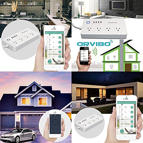 Iron-m WiFi Smart Power Strip Surge Protector, 4-Outlet 4-USB with 5-Foot Cord, Remote Control via Smart Phone, Work with Alexa and Google Home Mini by Iron-M (Image #5)
