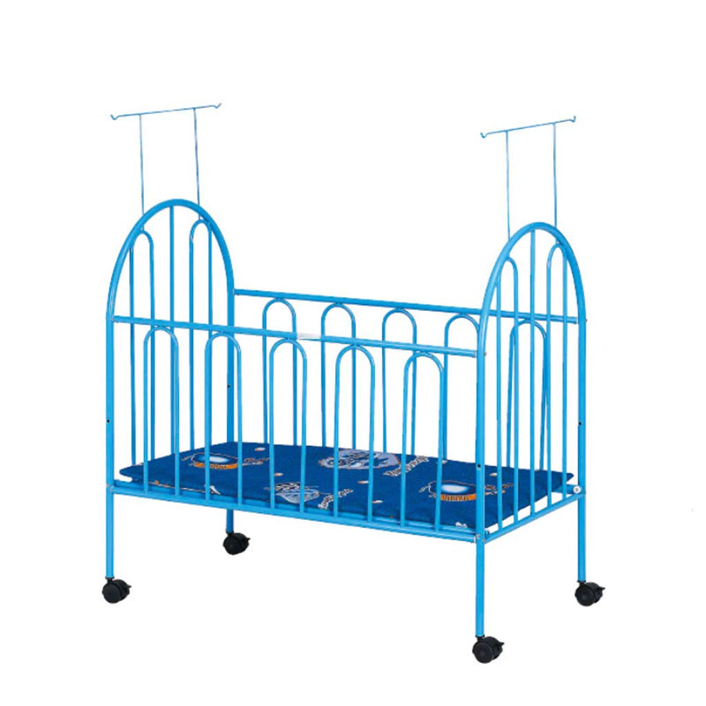 LVLONG Cradle Lathe-Portable Crib and Children's Bed Playground-Baby Furniture Sliding Bed-Newborn Crib, Double Height/with Mosquito Net for Children's Recreation/Sleeping/Large