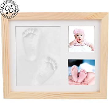 Amazon fanme baby handprint and footprint picture frame boys girls fanme baby handprint and footprint picture frame boys girls shower gifts memorable keepsake for registry diy negle Choice Image