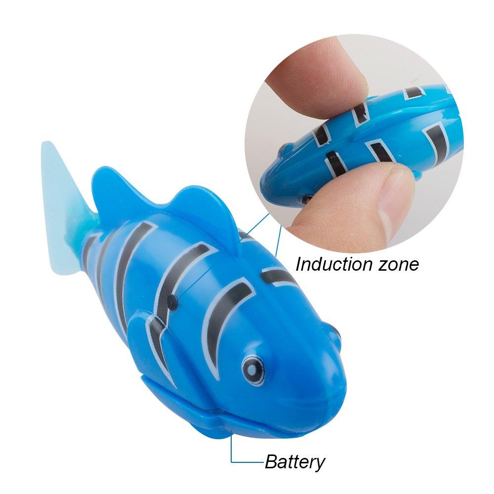Amazon.es: Denshine 4 Pcs Pez de Robot Juguete Electrónico Mini Robótica Pez Robótica Pescado Tanque de Peces, 3 Modos de Natación, Regalo para Niños (Color ...
