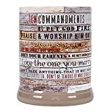Elanze Designs Ten Commandments Pallet Wood Look Ceramic Stoneware Electric Jar Candle Warmer