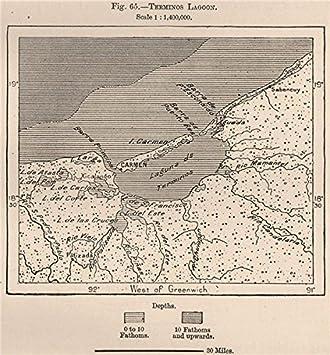 amazon com terminos lagoon laguna de términos mexico 1885 old