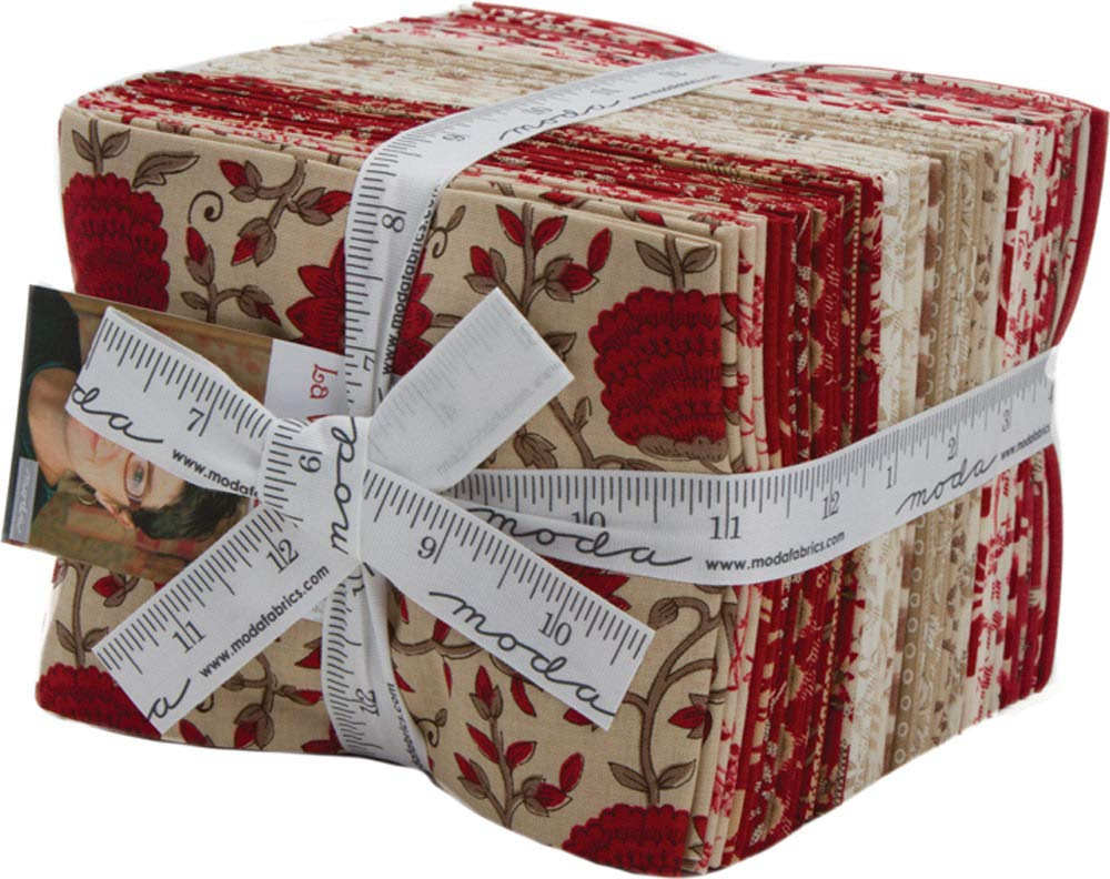 La VieEn Rouge 30 Fat Quarter Bundle by French General for Moda Fabrics 13820AB