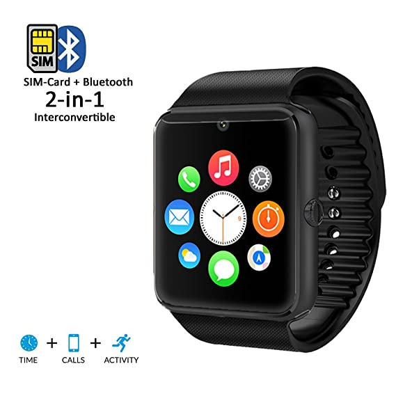 inDigi Bluetooth Smart Watch Phone for iPhone 6 Plus Samsung Android Smart Phone