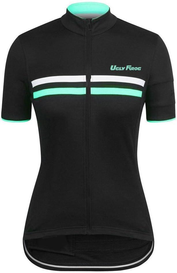 Uglyfrog Bike Wear Radsport Bekleidung Damen Trikots /& Shirts Kurzarm Outdoor Sports Slim Fit Full Zip Atmungsaktiv und Schnell Trocknend