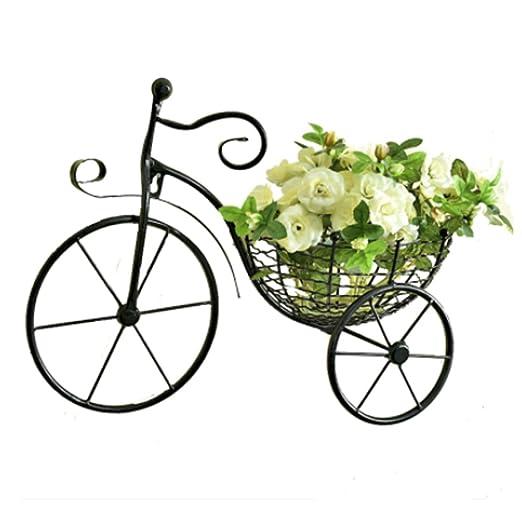 Creative bicicleta de hierro soporte de flor de pared colgar en la ...