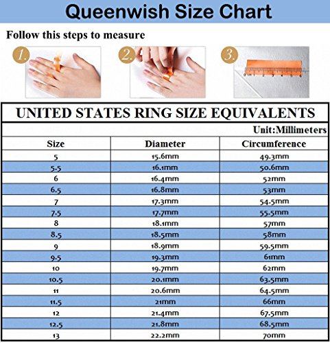 Amazon Queenwish 2mm Blue Tungsten Carbide Polished Traditional Engagement Wedding Rings Band Comfort Fit Size 4 11 Jewelry