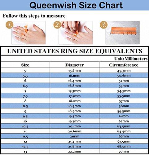 Queenwish 8mm Blue Black Celtic Dragon Tungsten Carbide Ring ...