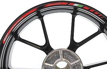 Impressiata Ducati Hyperstrada 821 Motorrad Felgenrandaufkleber Specialgp Rot Komplettset Aufkleber Sticker Auto
