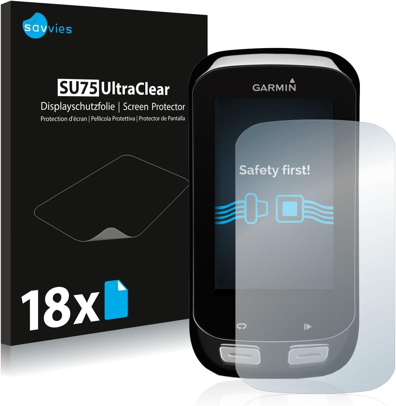 Savvies Protector de Pantalla para Garmin Edge 1000 Transparente 6 Unidades
