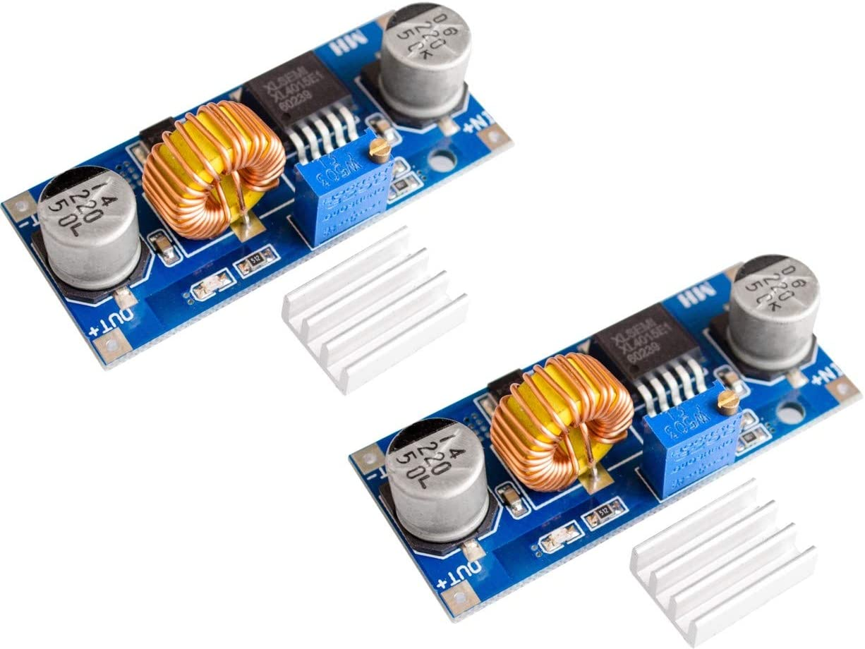 TECNOIOT 2pcs 5A XL4015 DC-DC Step Down Adjustable Power Module LED Lithium Charger