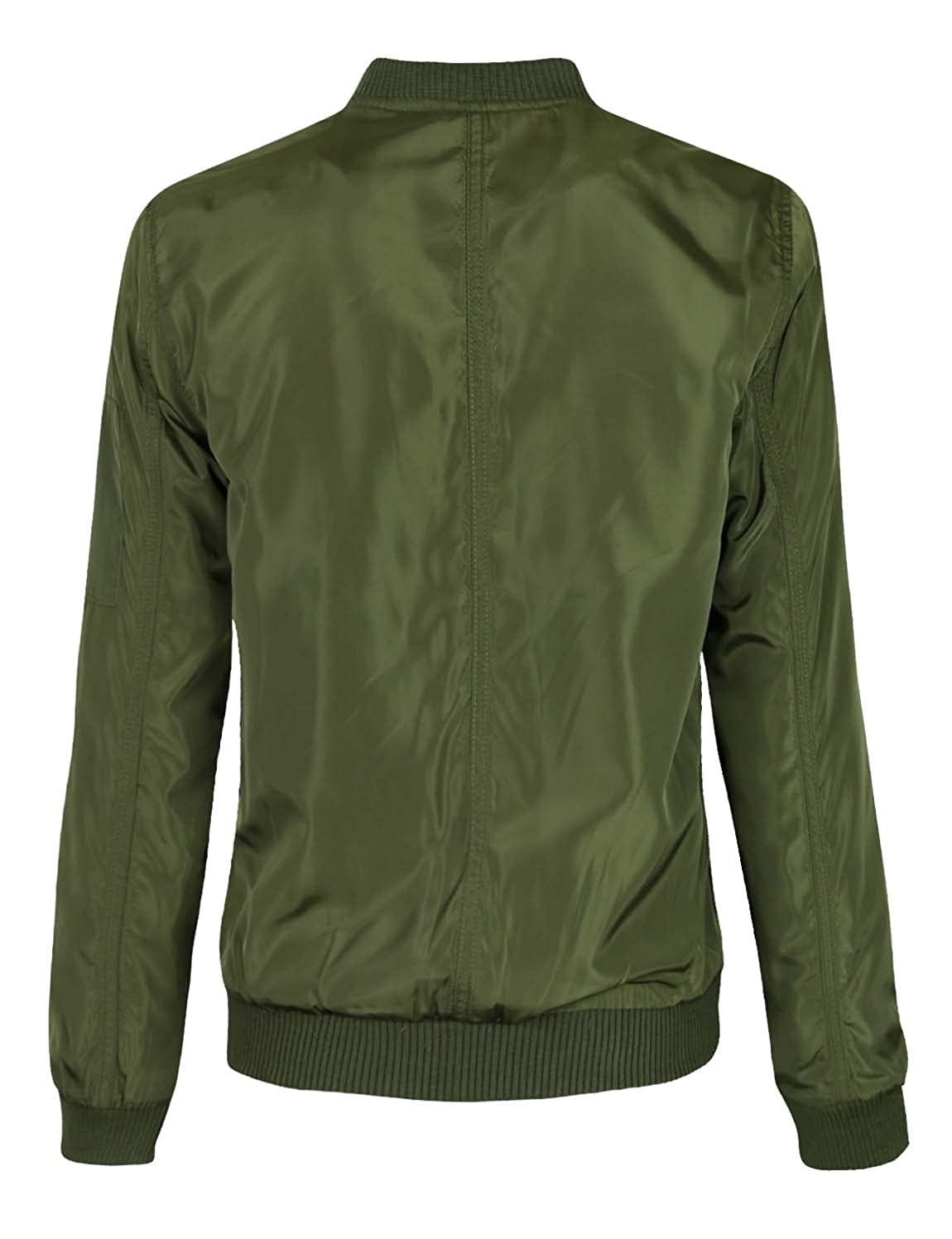 f4e947c90 makeitmint Women's Stylish Zip Up Patch Bomber Jacket w/Zipper Pocket  [S-3XL]