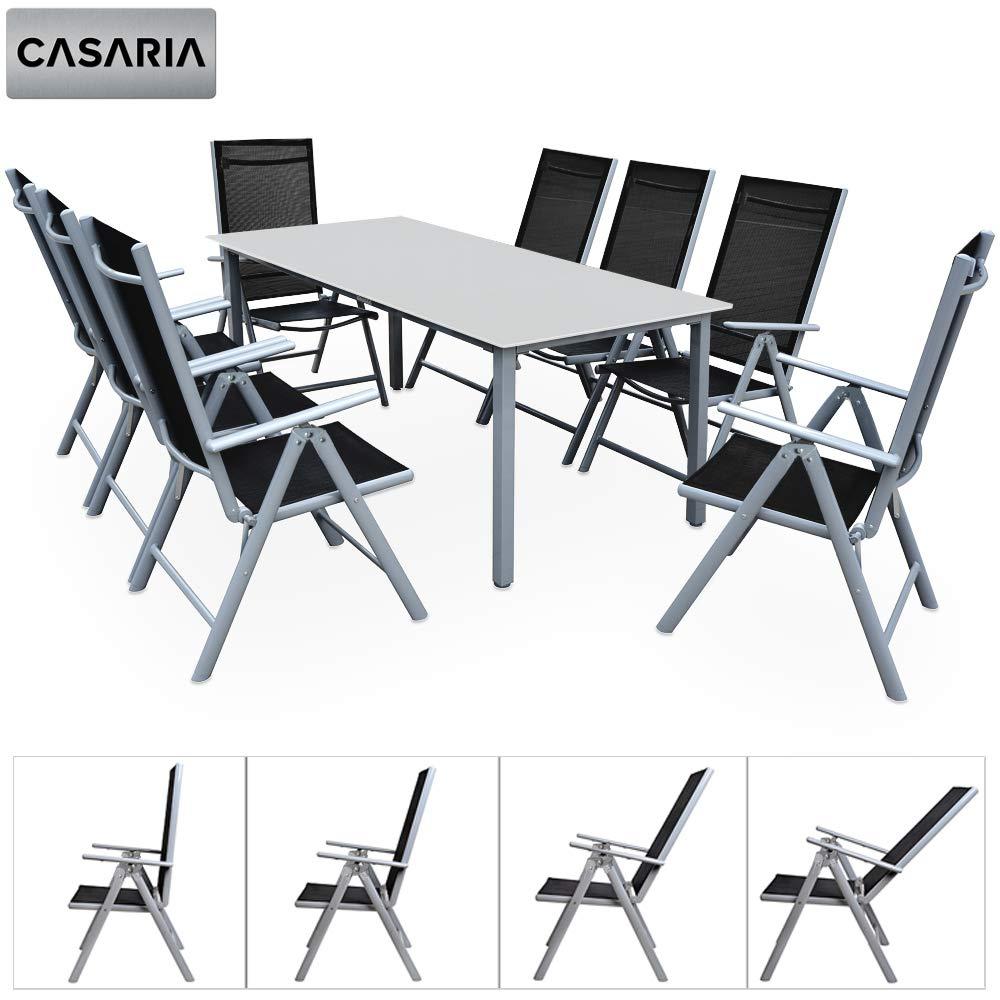 Mobilier de jardin Casaria Salon de Jardin Aluminium ...