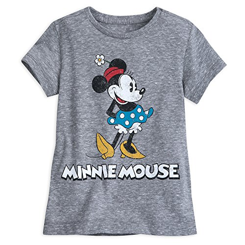 Disney Minnie Mouse Classic T-Shirt Girls - Gray Size S (5/6) Multi