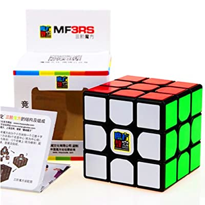 cuberspeed Moyu MoFang JiaoShi MF3RS Black 3x3x3 Magic Cube Cubing Classroom MF3RS 3X3 Black Speed Cube: Toys & Games