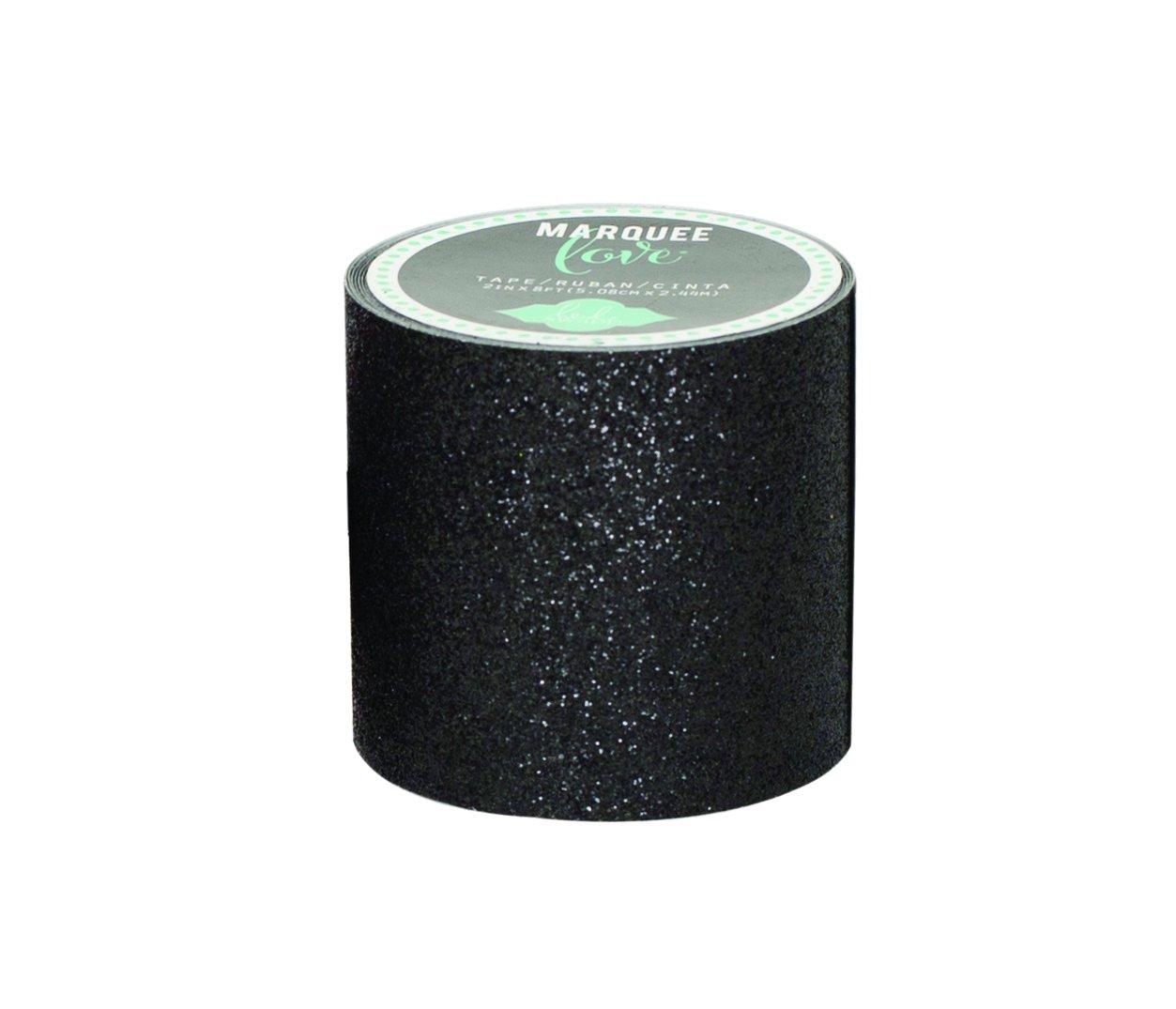 American Heidi Swapp Marquee Love Crafts-Nastro Washi Tape, 2', colore: nero Glitter, 2,44 Meters - 2 American Crafts 369442