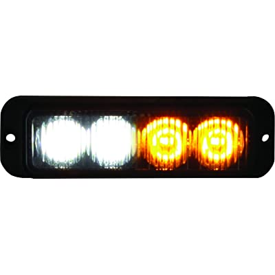 Buyers Products 8891132 Amber/Clear 4 LED Strobe Light (4-3/4in): Automotive