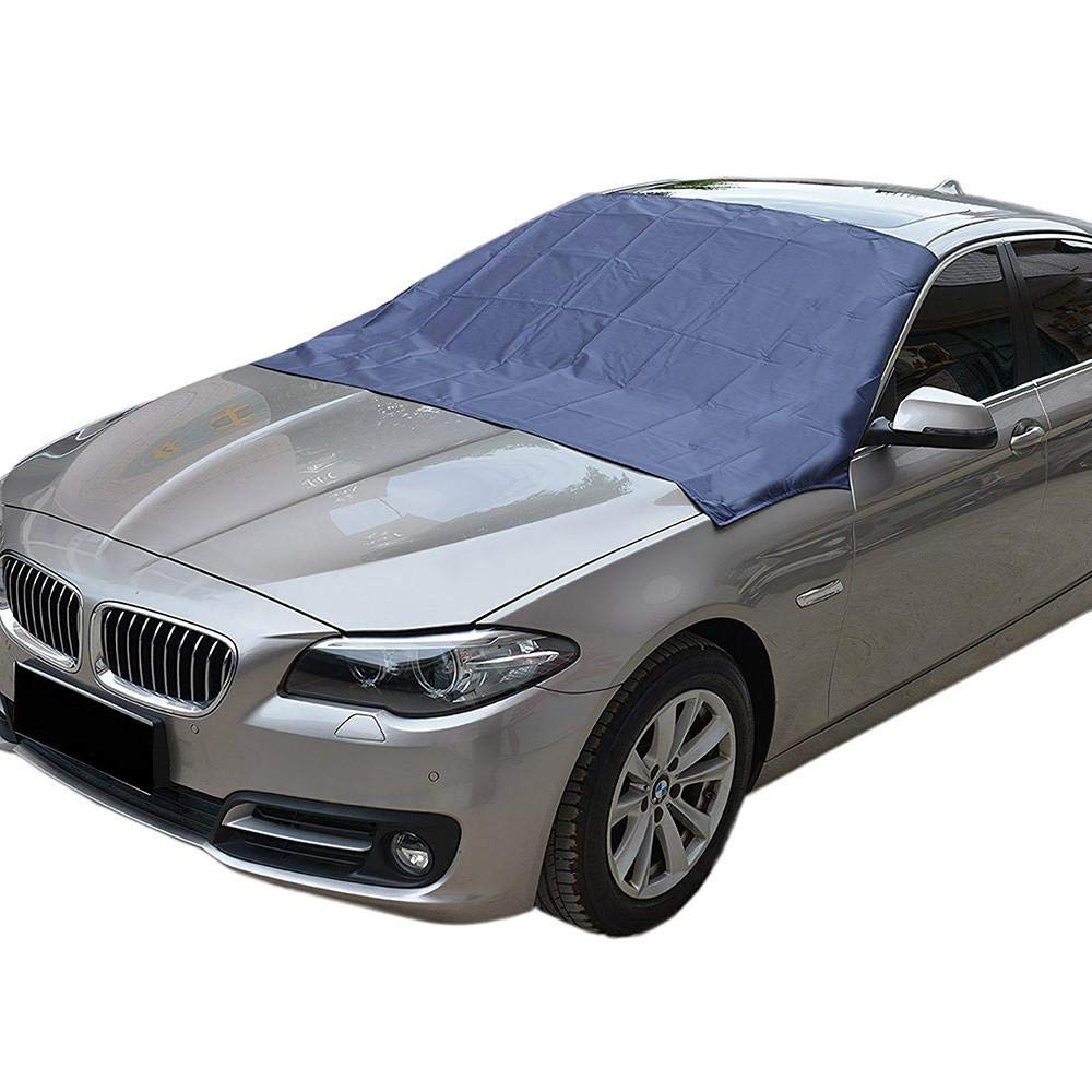 Car Windshield Snow Cover Sunshade Snow Cover with Magnetic Frost Windshield Cover Durable Waterproof Rainproof Fits Most Cars Trucks SUV (94 * 54') Aolvo