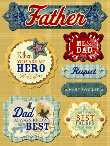 K&Company Grand Adhesion Stickers, Dad