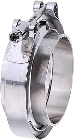 Iglobalbuy 2.5 Mild Steel V Band Flat Flange Clamp Kit Assembly For Intercooler Turbo Hose Exhaust B Pipes Aforbetter