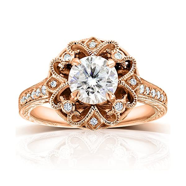 Antique-Forever-One-Colorless-D-F-Moissanite-Engagement-Ring-with-Diamond-1-15-CTW-14k-Rose-Gold