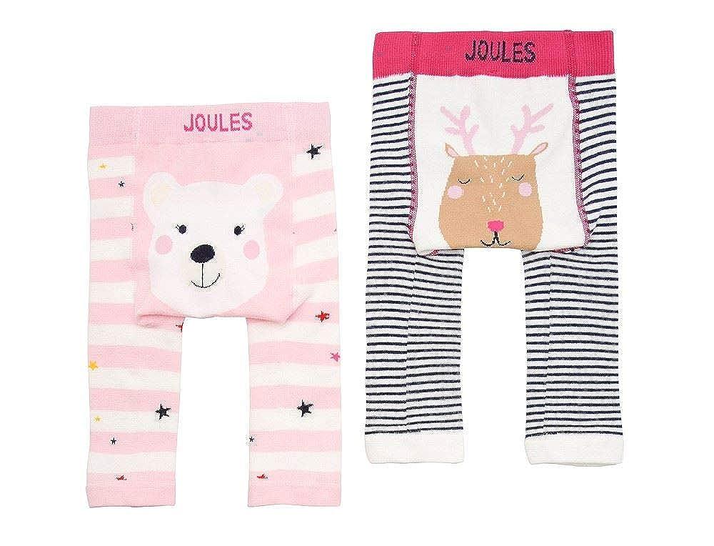 Joules Baby Lively Twin Pack Leggings - Girls Polar Bear