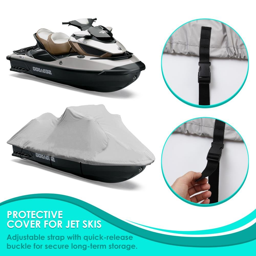 """Waterproof Fabric /& Elastic Cord Pyle Heavy Duty Boat Cover Mildew /& UV Damage Protection Against Rain PCVJS13 127/"""" to 138/"""" Universal Marine Grade Storage Cover w// Rear Air Vents"""