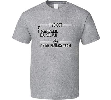 619f9bbef50 Amazon.com  Marcelo Vieira Da Silva Junior is on My Fantasy Team Brazil  World Cup 2018 Soccer Lovers T Shirt  Clothing