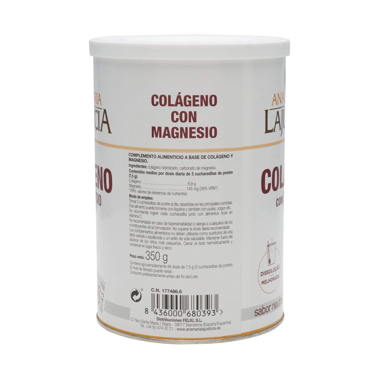 Amazon.com: Lajusticia Collagen with Magnesium 350G - Helps to ...