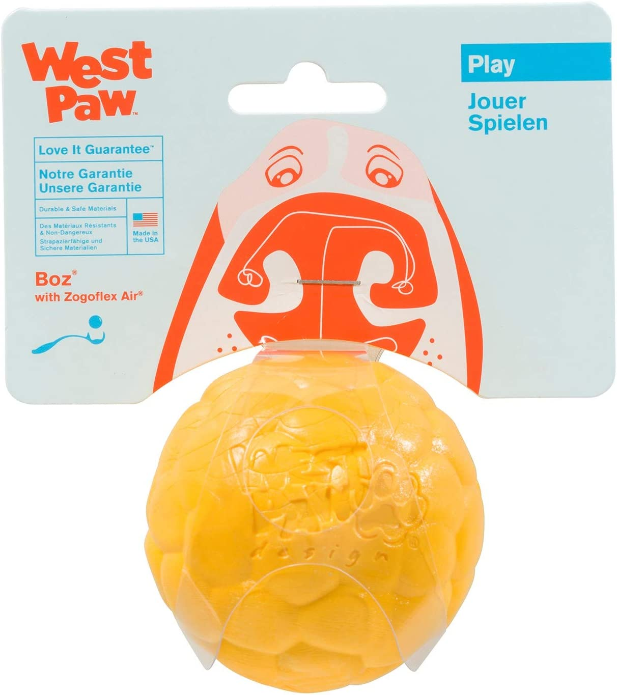 West Paw Zogoflex Air Boz Floatable Ball for Dogs