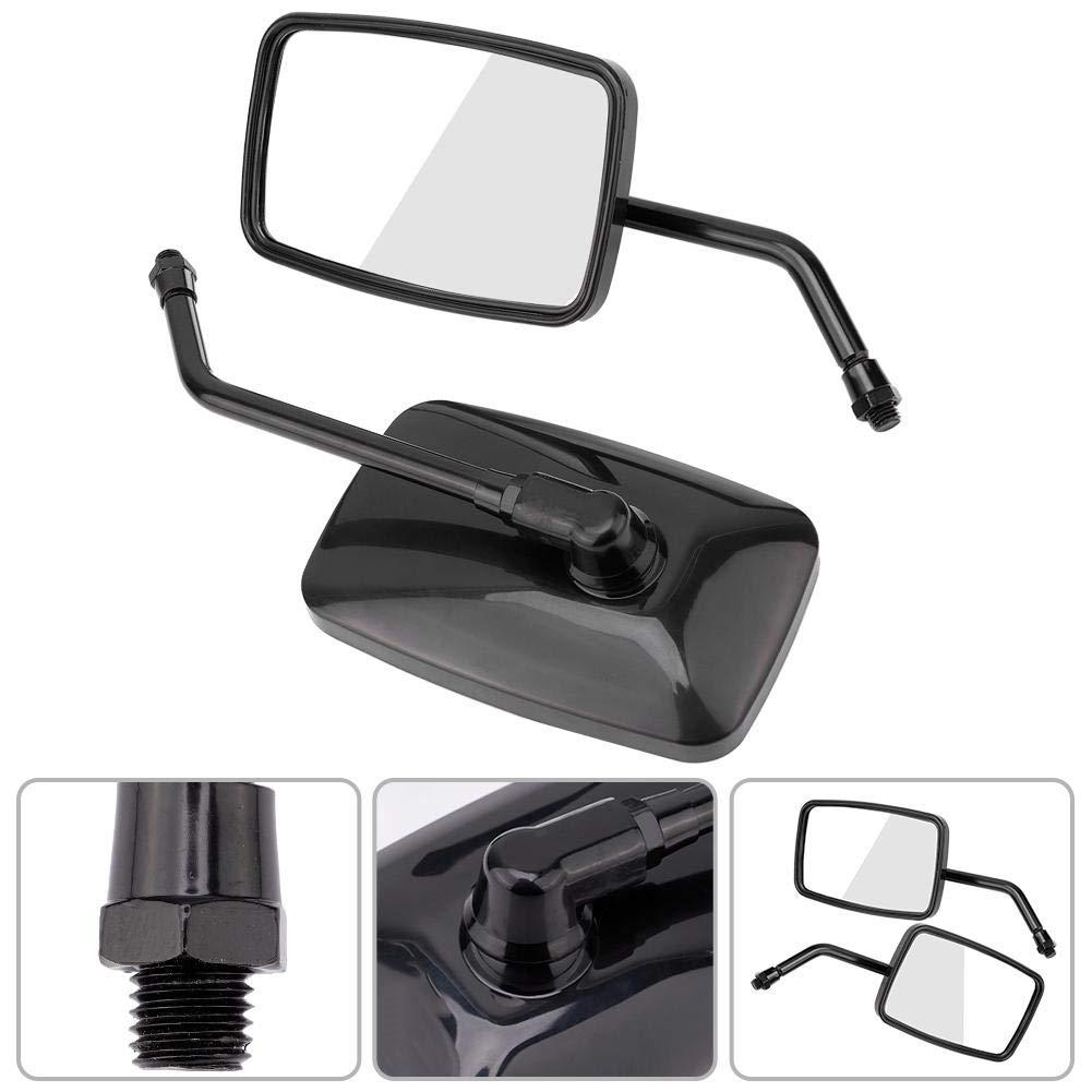 EBTOOLS Specchietto retrovisore per moto nero 2 pezzi moto Street Bike modificato specchietto retrovisore specchietto retrovisore