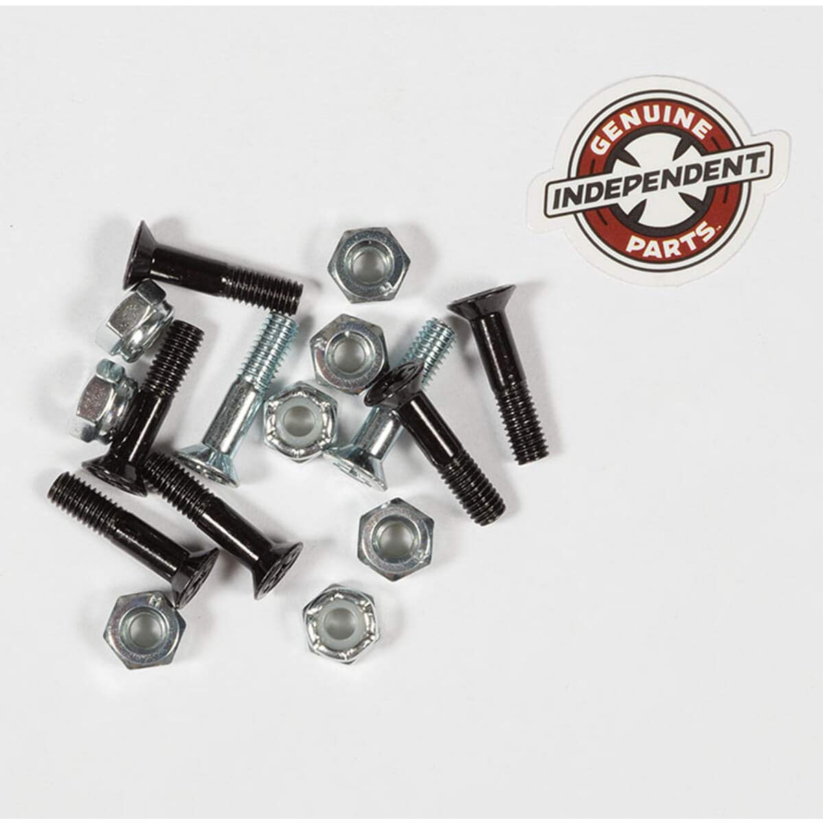 7//8 Silver Standard Skateboard Hardware Sets Independent Cross Phillips Head Black