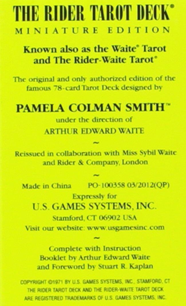 Miniature Rider-Waite Tarot Deck: Amazon.es: Arthur Edward ...
