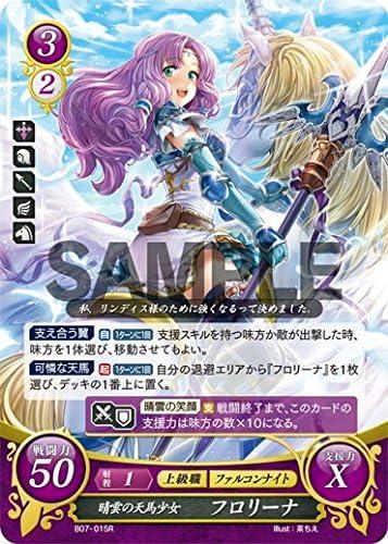 Sunny Pegasus Girl Fire Emblem Japanese 0 Cipher Card Florina B07-015 R Holo