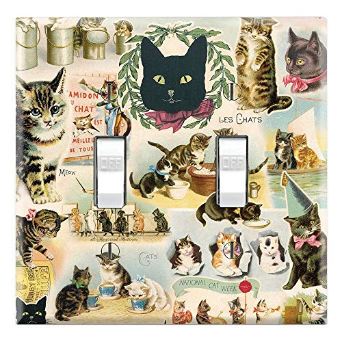 Graphics Wallplates - The Cat's Meow - Double Toggle Wall Plate Cover