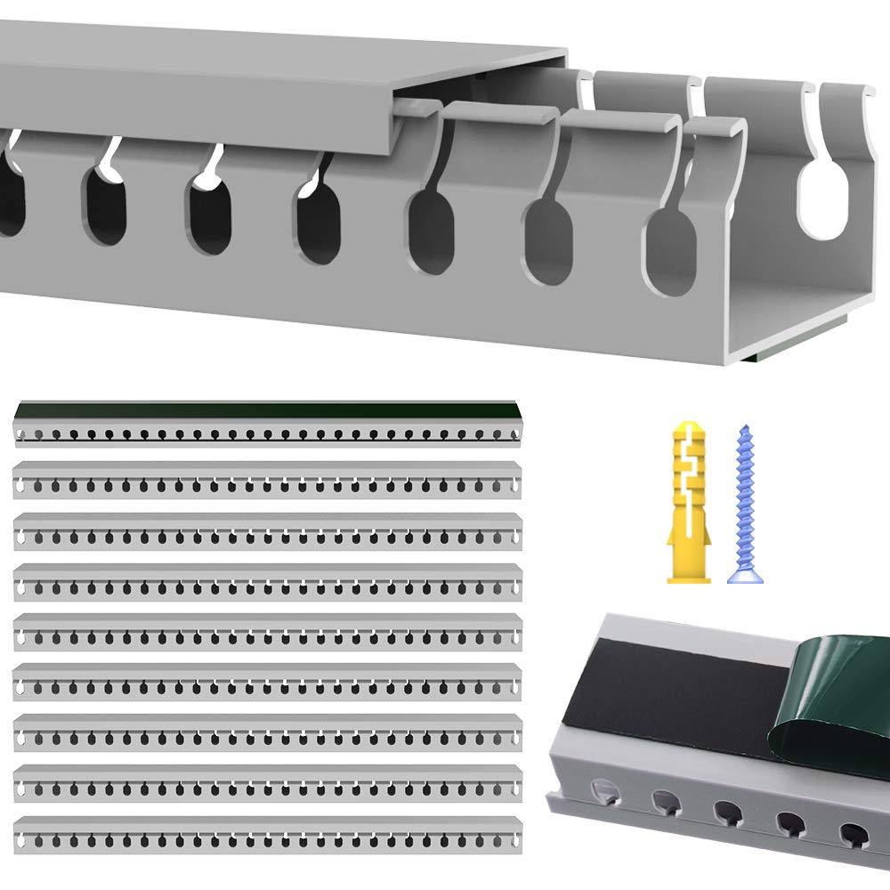 Details about Open Slot Cable Raceway Kit, On Wall Wiring Cable Management on