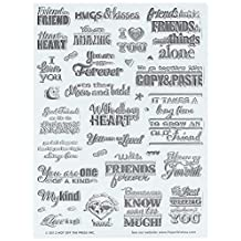Hot Off The Press Acrylic Stamps 6 by 8-Inch Sheet-Heart to Heart Greetings