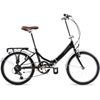 Kingston Freedom - Bicicleta Plegable, Aluminio, Negro