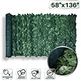 Patio Paradise 58'' x 136'' Faux Ivy Privacy Fence Screen with Mesh Back-Artificial Leaf Vine Hedge Outdoor Decor-Garden Backyard Decoration Panels Fence Cover